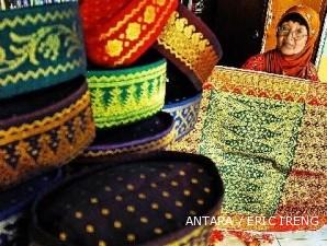 Kain Songket Tradisional Tenun Palembang