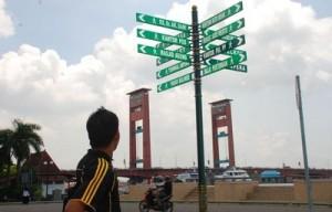 BERITA FOTO : Penunjuk Arah di BKB Palembang