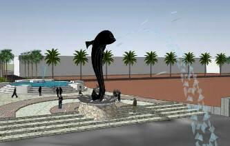 proyek-kota-palembang-2015-patung-iwak-belido-palembangtweet-httpt-co2hphlvl10j