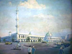 Lukisan masjid Agung Palembang