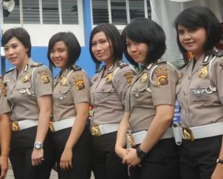 Polresta Palembang Sebar 40 Polwan - POLWAN1.JPG