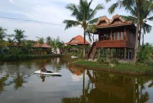 Restoran dan pemancingan Lebak Gelora Indah Agung Palembang