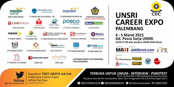 eventplg-jangan-lewatkan-indonesiacareer-expo-palembang-4-5-mar-15-gd-pasca-sarjana-unsri-httpt-codanizgylat