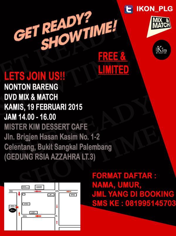palembangtweet-help-rt-nonton-bareng-dvd-mix-match-ikon-palembang-19-februari-2015-free-limited-httpt-comgwyuuyszx