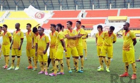 Para pemain Sriwijaya FC yang akan berlaga pada kompetisi Indonesia