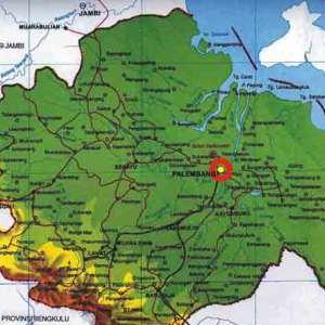 Peta Palembang - Seberang Ilir dan Seberang Ulu
