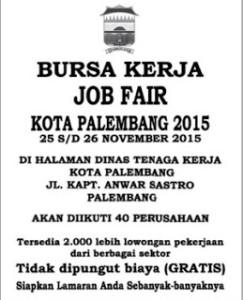 Lowongan Kerja Sma November 2015 Palembang