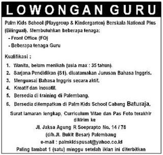 Lowongan Kerja Di Hotel Palembang