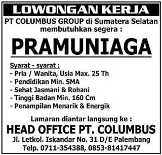 Lowongan Kerja Maret 2018 Palembang