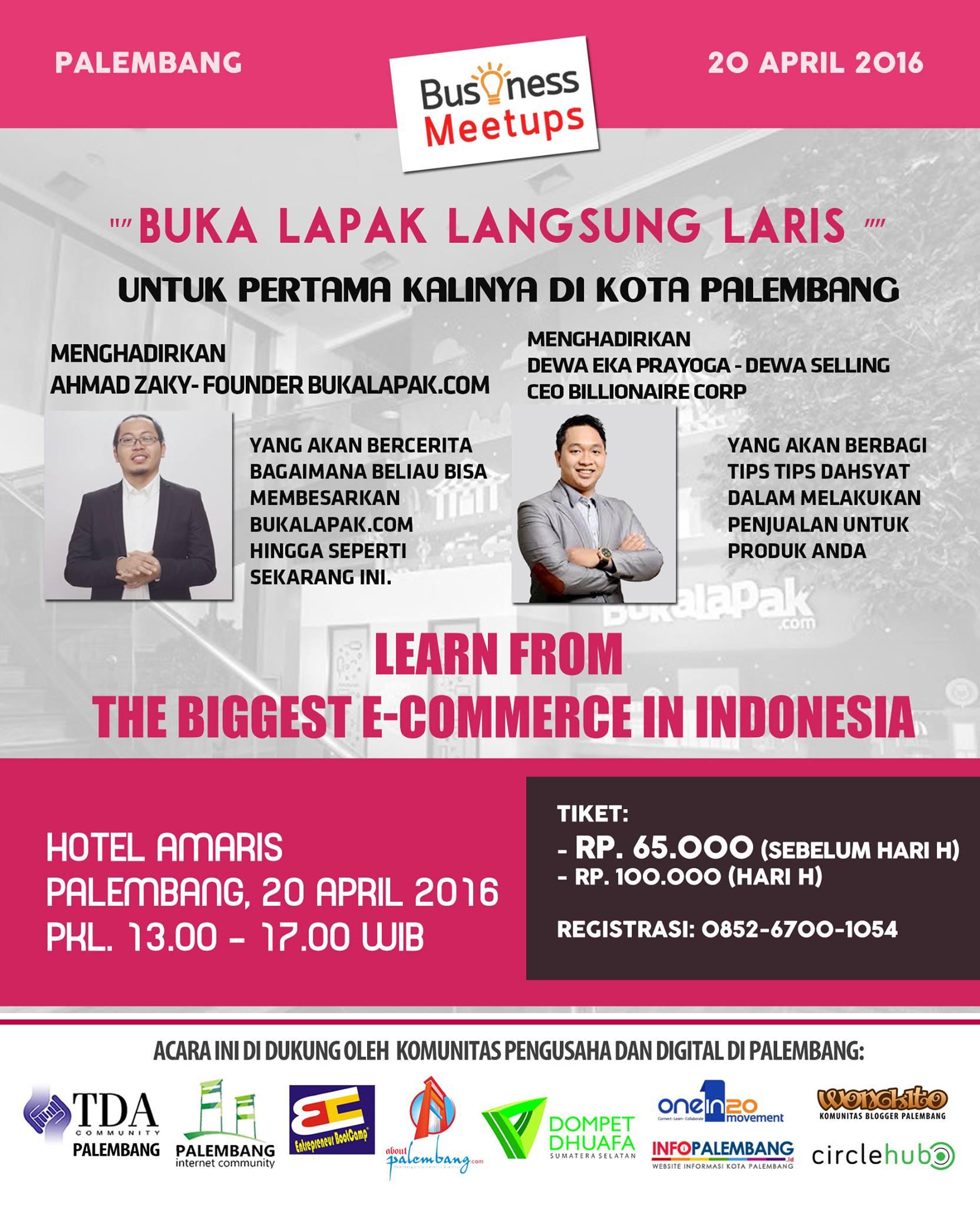 Belajar Langsung dari Founder Bukalapak di Palembang