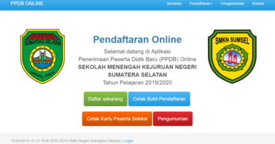 Jasa Pembuatan Aplikasi PPDB Online Palembang
